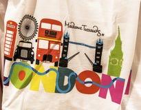 London souvenirskjorta Royaltyfri Foto