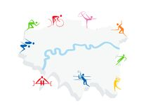 London Sports vector Royalty Free Stock Photography