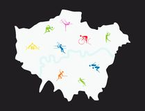 London Sports vector Stock Images