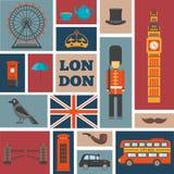 London Square Icon Set vector illustration