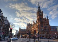 London St Pancras railway station Stock Photos