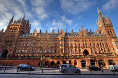 London St Pancras railway station Royalty Free Stock Image