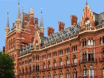 London, St. Pancras Railway station Royalty Free Stock Photo