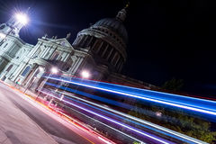 London-The St. Paul Catedral at night Stock Photography