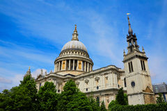 London St Paul Pauls Cathedral in England Stock Photos