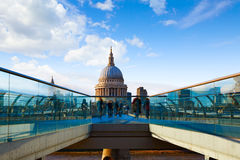 London St Paul Pauls cathedral from Millennium Stock Photography