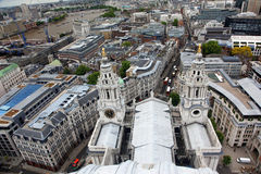 London from St Paul's Cathedral Royalty Free Stock Photography