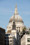 London, St Paul's Cathedral in London. St Paul's Cathedral in London surrounded by buildings Stock Photography