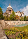 London, St. Paul's Cathedral in spring Royalty Free Stock Images