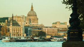 London St Paul's at late afternoon. Just before sunset stock video footage