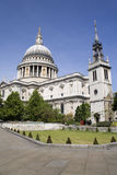 London - st. Pauls cathedral and park Stock Photography