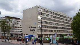 London St Thomas Hospital royaltyfri foto