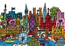 London stad Arkivbild