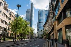 London stad, finansiell mitt Arkivfoton