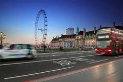 London stad på natten, England Förenade kungariket Royaltyfri Foto
