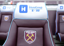 London Stadium - Substitution Bench Stock Photography