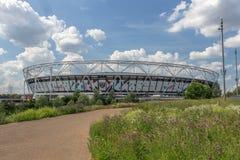 London Stadium , West Ham United`s Stadium in Queen Elizabeth Olympic Park, stock photos