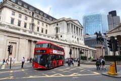 London stadsbuss Arkivfoto