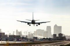 London stadsflygplats Arkivfoto