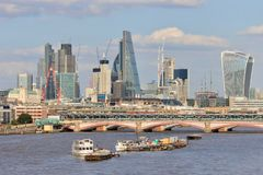 London stadshorisont under konstruktion Royaltyfri Bild