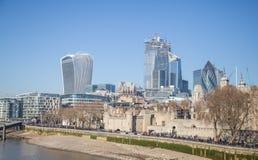 London stadsscyscrapers 2019 fotografering för bildbyråer
