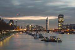 London-Stadt nachts Lizenzfreie Stockbilder