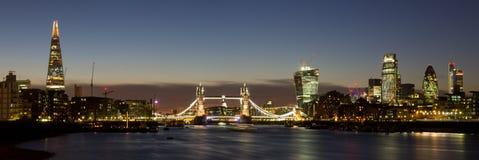 London-Stadt panoramisch Stockfotografie