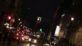 London-Stadt-Straßen-Nacht (Big Ben) HD stock video footage