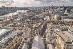 London-Stadtansicht von St. Pauls lizenzfreie stockbilder