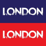 London-Stadtaufkleber Stockbild
