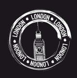 London stamp Royalty Free Stock Image