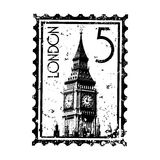 London stamp or postmark style grunge Stock Photography