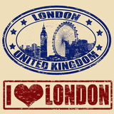 London stamps Stock Photography