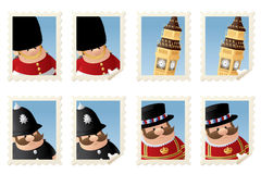 London Stamps Royalty Free Stock Image