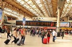 london station victoria Arkivfoto