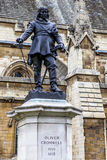 London statue of Oliver Cromwell on St.Margaret ST. London statue of Oliver Cromwell in front of Westminster Palace on St.Margaret ST Stock Photos