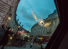 London stilleben i december royaltyfri fotografi