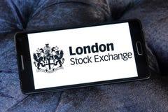 London Stock Exchange logo. Logo of London Stock Exchange on samsung mobile. The London Stock Exchange LSE is a stock exchange located in the City of London Royalty Free Stock Images