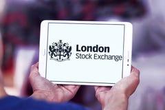 London Stock Exchange logo. Logo of London Stock Exchange on samsung tablet. The London Stock Exchange LSE is a stock exchange located in the City of London Stock Image