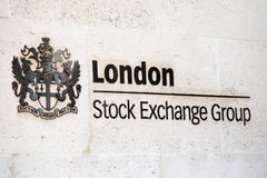 London Stock Exchange. London, United Kingdom, July 26, 2014 : The London Stock Exchange based in the City of London at Paternoster Square has a market Stock Photography