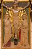 LONDON STORBRITANNIEN - SEPTEMBER 17, 2017: Korsfästelsen som stationen av korset i kyrka av St James Spanish Place Royaltyfri Foto