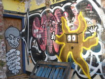 London-Straße Art In East London Lizenzfreies Stockfoto