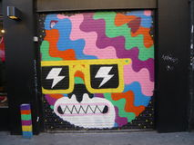 London-Straße Art In East London Stockfotografie