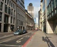 London-Straße mit Ampelschatten lizenzfreies stockfoto