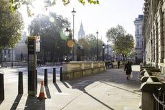 London-Straßen im Herbst Lizenzfreies Stockfoto