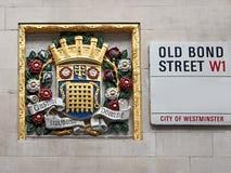 London-Straßenschild stockbild