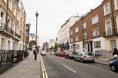 London street. Traditional town houses at Belgravia district in London, England Stock Image
