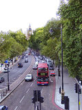 London street. With Big Ben in the background stock photography