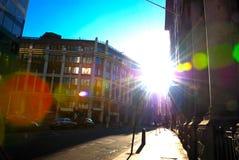 London Street. Image Capture on London Banking Street Stock Photo