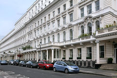 London street apartment buildings Stock Photos